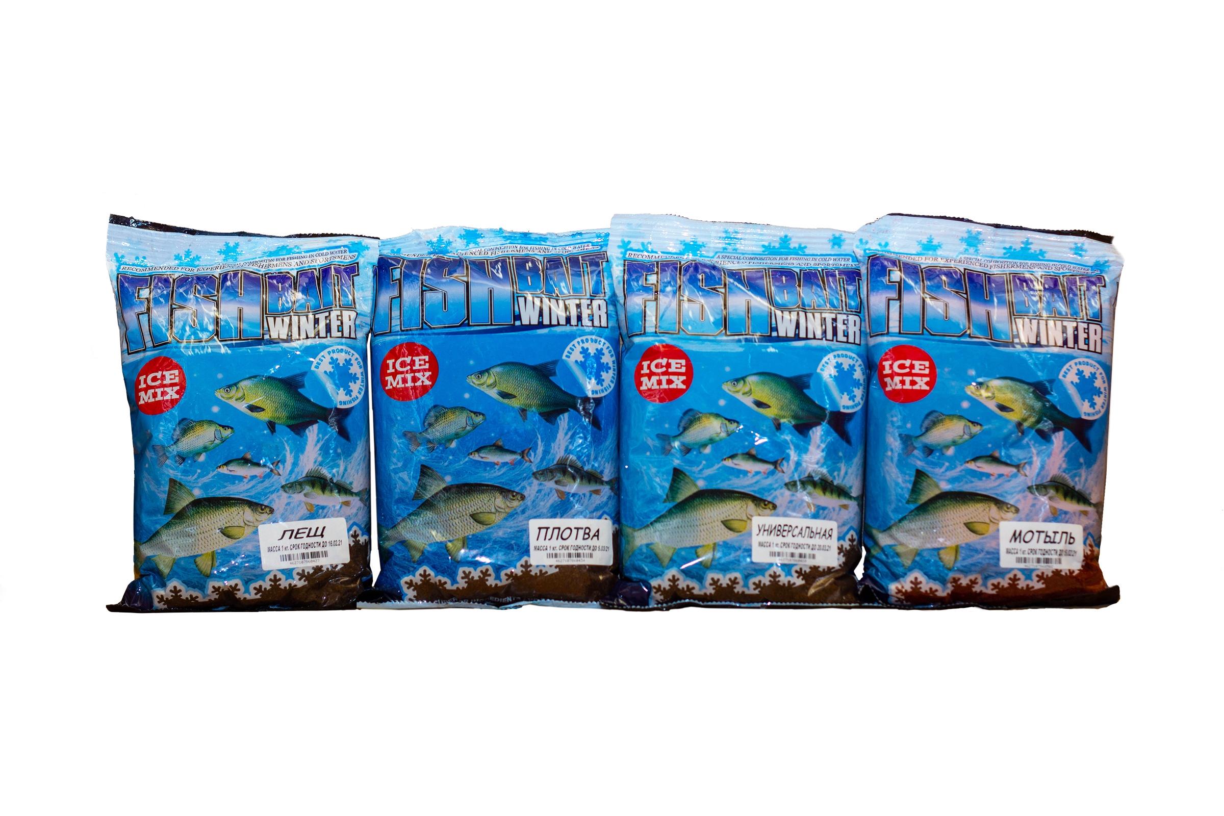 ПРИКОРМКА FISHBAIT ICE MIX WINTER (ФИШ БАЙТ ЗИМНИЙ МИКС) лещ, плотва, мотыль, универсальная
